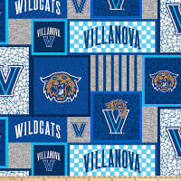 NCAA Villanova Wildcats Fleece Patches Blue/Multi