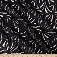 Klauber Bros. Guipure Embroidered Lace Black