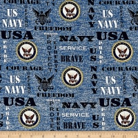 Military Navy Heather Allover Multi