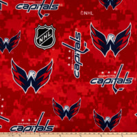 NHL Washington Captials Digital  All Over Fleece Red/White/Blue