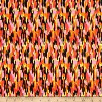 Stripe Camo Allover Cotton Orange/Yellow/Red/Pink/Black