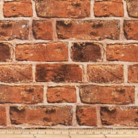 ArtCo Prints Canvas Bricks Rust