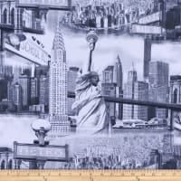 ArtCo Prints Canvas Manhattan Grey