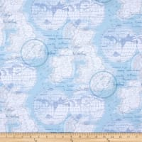 ArtCo Prints Canvas Maps Blue