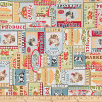 ArtCo Prints Canvas Farm Multi