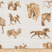 ArtCo Prints Canvas Horses Brown