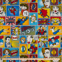 ArtCo Prints Canvas Comic Hero Multi