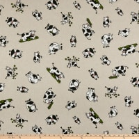 ArtCo Prints Canvas Cow Beige