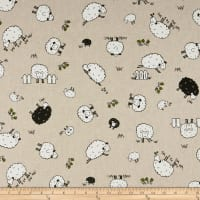 ArtCo Prints Canvas Sheep Beige
