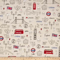 ArtCo Prints Canvas London Beige