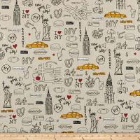 ArtCo Prints Canvas New York Beige