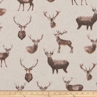 ArtCo Prints Canvas Deer Brown