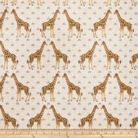 ArtCo Prints Canvas Giraffe Beige