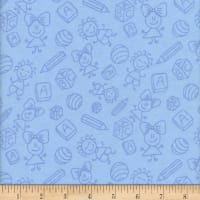 Flannel Melody Baby Blue