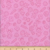 Flannel Melody Baby Pink
