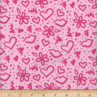 Flannel Melody Graffiti Pink