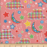 Flannel Snuggy Dotted Moon Coral