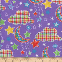 Flannel Snuggy Dotted Moon Purple
