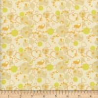 Flannel Snuggy Heart Bubble Yellow