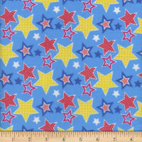 Flannel Snuggy Starz Blue