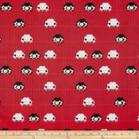 Stof Fabrics Denmark Crafty Critters Sheep Knitting Needles Red