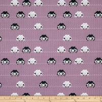 Stof Fabrics Denmark Crafty Critters Sheep Knitting Needles Mauve