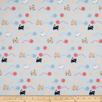 Stof Fabrics Denmark Crafty Critters Yarn Cats Grey