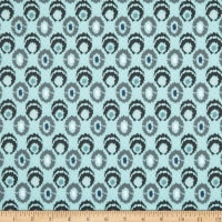 Stof Fabrics Denmark Cosy Minds Circle Graphics Dots Turquoise