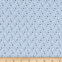 Stof Fabrics Denmark Zoo Around Dots Blue
