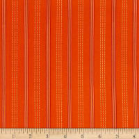 Stof Fabrics Denmark Zoo Around Lines Stripe Orange