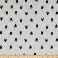 Stof Fabrics Denmark Wolly Bear Footprint Sand