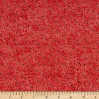 Stof Fabrics Denmark Petits Motifs Dots Structure Red