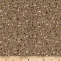 Stof Fabrics Denmark Petits Motifs Structure Triangle Brown