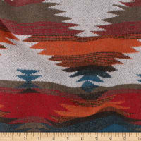Telio Woodlands Wool Blend Coating Aztec Inspired Teal Rust