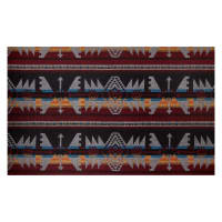 Telio Woodlands Wool Blend Coating Aztec Inspired Grey Wine