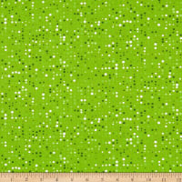 Stof Fabrics Denmark Colour Fun Green & White Dots Green