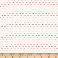 Stof Fabrics Denmark Colour Fun 3 Dots Red/White