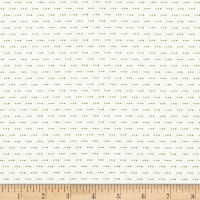 Stof Fabrics Denmark Colour Fun 3 Dots Green/White