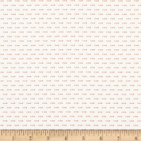 Stof Fabrics Denmark Colour Fun 3 Dots Orange/White