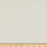 Stof Fabrics Denmark Colour Fun 3 Dots Yellow/White