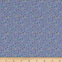 Stof Fabrics Denmark Colour Fun Crosses Sky Blue