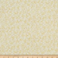 Stof Fabrics Denmark Basic Twist Words Yellow