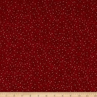 Stof Fabrics Denmark Basic Twist Dots White/Red