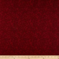 Stoffabrics Denmark Basic Twist Scroll On Burgundy