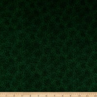 Stoffabrics Denmark Basic Twist Black Leaves On Dark Green