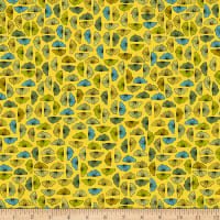 Stoffabric Denmark  Roadside Flowers Graphics Yellow