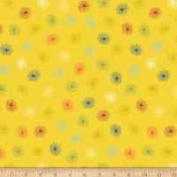 Stoffabric Denmark  Roadside Flowers Flowers Yellow