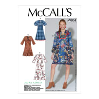 McCall's M7804 Laura Ashley Misses' Dresses A5 (Sizes 6-14)