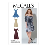 McCall's M7805 A/B, C and D Cup Sizes Misses' Dresses A5 (Sizes 6-14)