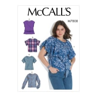 McCall's M7808 Misses' Tops E5 (Sizes 14-22)